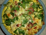 Spinach & Bacon Hash BrownQuiche