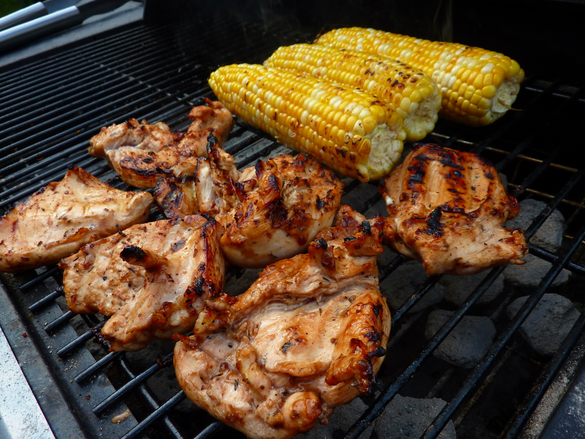 Grilled Caribbean Jerk Chicken and Grilled Old Bay ...