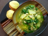 Leek, Potato, and Spinach Stew