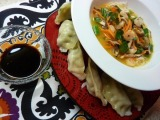 Asian Shrimp and Rice Noodle Soup