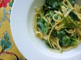 Pasta with Baby Spinach, herbs, and Ricotta