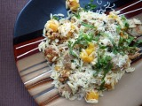 Spinach & Feta Chicken Sausage with Butternut Squash &Orzo