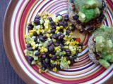 Corn, Black Bean, + Avocado Salad