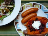 Sweet Potatoes with Warm Black BeanSalad