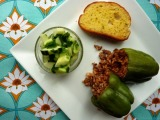 CSA-Week 7: Stuffed Green Peppers and Cucumber Salad