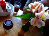 Linda's Big Spring Salad and Lindemans Framboise