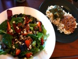 Palak Paneer and Red Kidney BeansCurry
