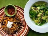Tex-Mex Rice Bowl + Avocado Butter Lettuce Salad