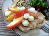 Pork Chops with Roasted Apples andOnions