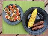 Tomato Bruschetta, Grilled Brats 'n'Corn