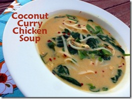 2 coconut curry chicken soup