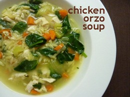 4 chicken orzo soup