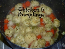 7 chicken and dumplings