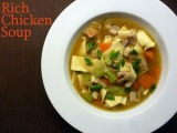 Rich Chicken Soup + Chicken Soup Recipe Round-Up