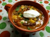 Poblano-Turkey Sausage Chili