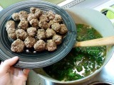 Couscous Meatball Soup