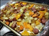 Sausage, Pepper, and PotatoBake