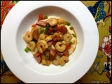 Spicy Cheese Grits with Shrimp andSausage