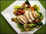 Greek Chicken Bread Salad