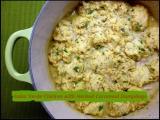 Salsa Verde Chicken with Herbed CornmealDumplings