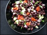 Black Bean Salad & Tex-Mex Calzones