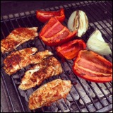 Grilled Chicken and VeggieQuesadillas
