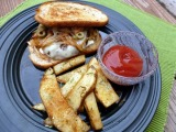 Patty Melts and Crispy Rosemary Oven Fries