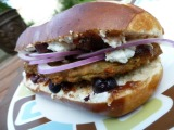 Herbed Goat Cheese and Fig Burger + MorningStar Farms*GIVEAWAY*