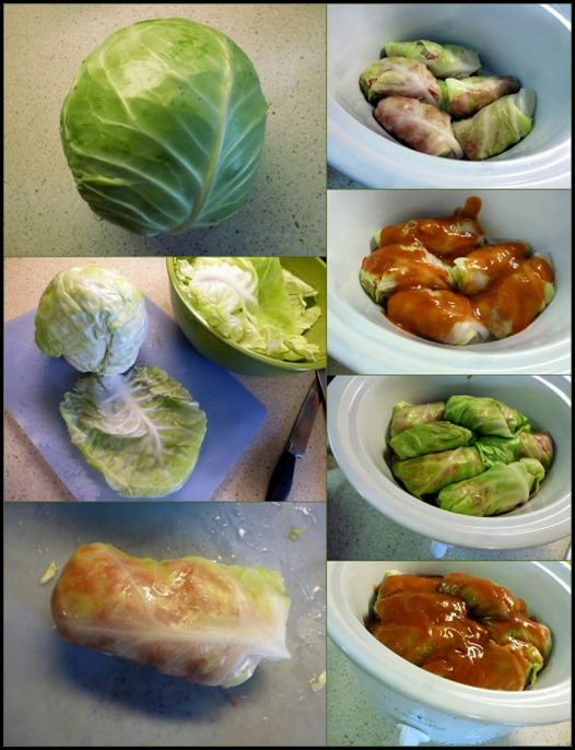 cabbage rolls and spaetzle