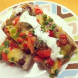 Mexican Black Bean and CheesePizza