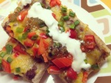 Mexican Black Bean and Cheese Pizza