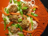 Gingery Pork Meatballs withNoodles