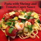 Pasta with Shrimp and Tomato-CaperSauce