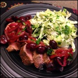 Pork Tenderloin with Roasted Cherries