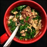 Spicy Pork Soup with Greens, from Bon Appetit