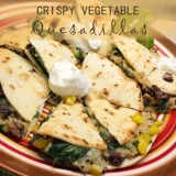 Crispy Vegetable Quesadillas from Cooking Light