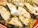 Crispy Vegetable Quesadillas from CookingLight