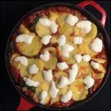 Sausage and Kale Sauté with Polenta // CookingLight