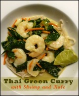 Thai Green Curry with Shrimp and Kale // From Cooking Light