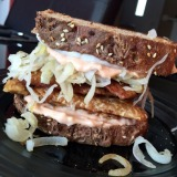 Tempeh Reuben with The Brinery's Products
